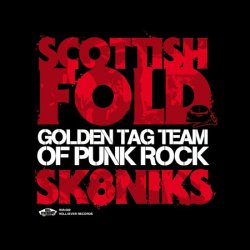 画像1: SCOTTISH FOLD, SK8NIKS / split -Golden tag team of punk rock- (7ep)