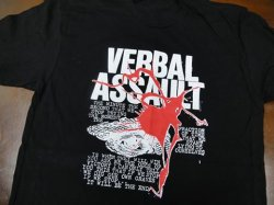 画像1: VERBAL ASSAULT / Never stop (t-shirt)