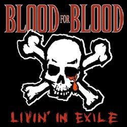 """画像1: BLOOD FOR BLOOD / Livin' in exile (10"""") Victory"""